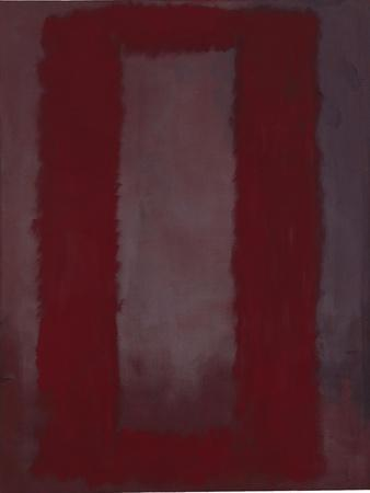 Mural, Section 4 {Red on maroon} [Seagram Mural]