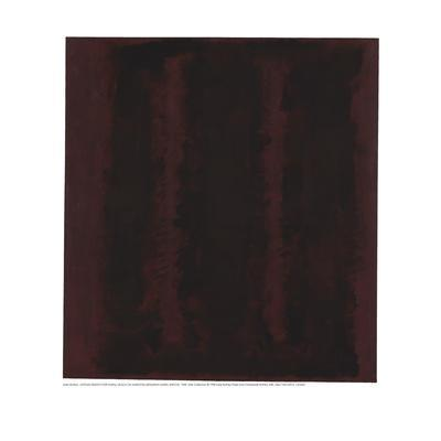 Untitled {Sketch for Mural/ Black on Maroon} [Seagram Mural Sketch]
