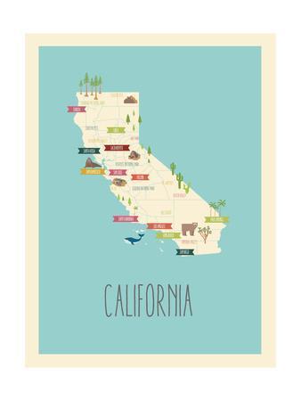 California Blue Map