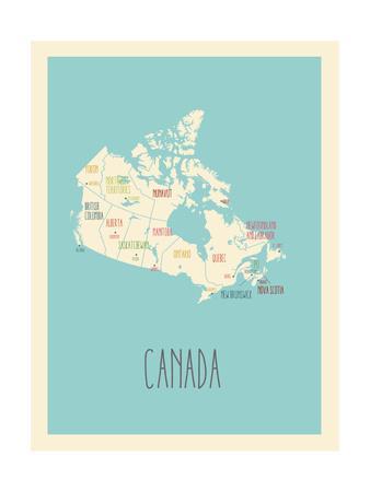 Blue Canada Map