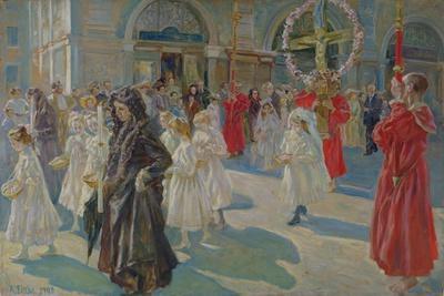 Procession of Corpus Christi in Piazza Grande in Trieste, 1908