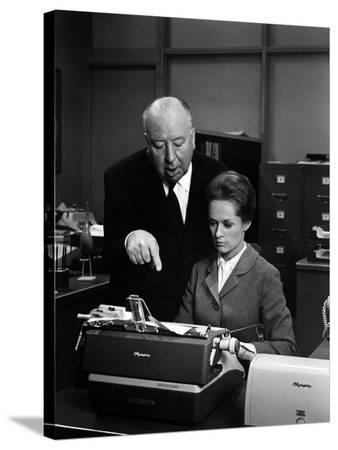 """Tippi Hedren; Alfred Hitchcock. """"Marnie"""" [1964], Directed by Alfred Hitchcock."""