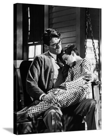 """Gregory Peck; Phillip Alford. """"To Kill a Mockingbird"""" [1962], Directed by Robert Mulligan."""