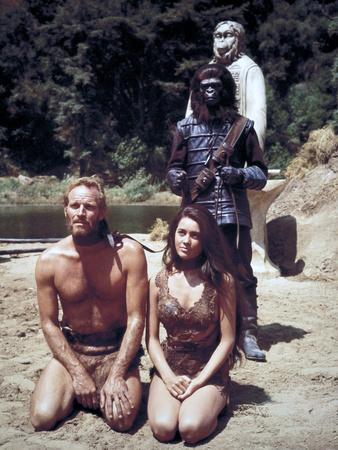 "Charlton Heston; Linda Harrison. ""Planet of the Apes"" [1968], Directed by Franklin J. Schaffner."