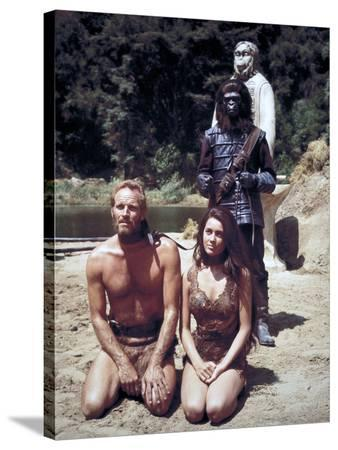"Charlton Heston; Linda Harrison. ""Planet of the Apes"" [1968], Directed by Franklin J. Schaffner."