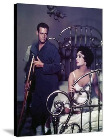 """Paul Newman; Elizabeth Taylor. """"Cat on a Hot Tin Roof"""" [1958], Directed by Richard Brooks."""