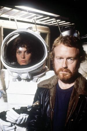 "Sigourney Weaver; Ridley Scott. ""Alien"" [1979], Directed by Ridley Scott."