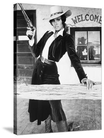 """Raquel Welch. """"Bandolero!"""" [1968], Directed by Andrew V. Mclaglen."""