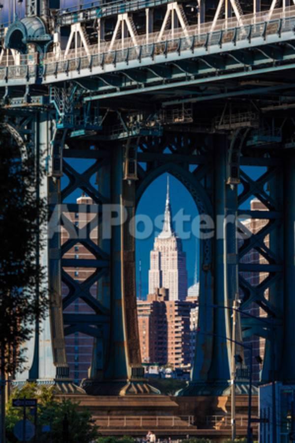 Manhattan Bridge frames Empire State Building, NY NY Photographic ...