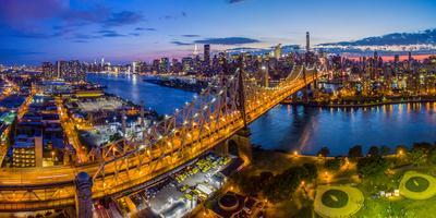 Queensboro Bridge at dusk, Midtown Manhattan, New York City, New York State, USA