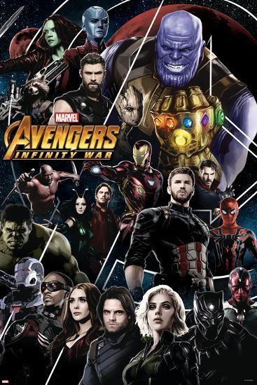 Avengers Poster Signed