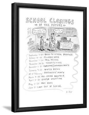 School Closings of the Future - New Yorker Cartoon