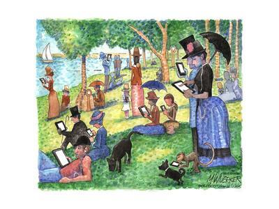 George Seurat's painting, A Sunday Afternoon on the Island of La Grande Jatte.