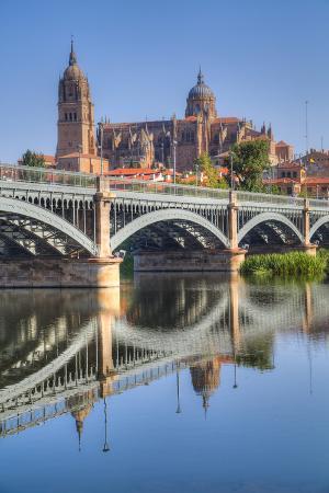 Enrique Estavan Bridge, Cathedral of Salamanca, UNESCO World Heritage Site, Spain