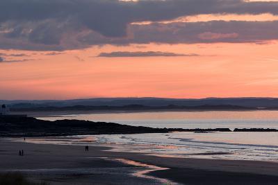 Sunset, Bamburgh, Northumberland, England, United Kingdom, Europe