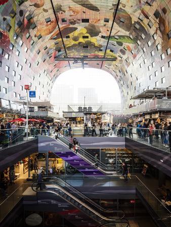 Interior of Markthal, Westnieuwland, Rotterdam, Netherlands, Europe