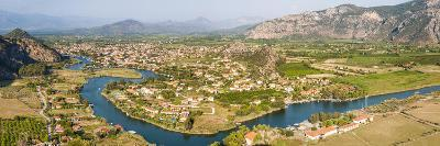 View over Dalyan River from the ancient ruins of Kaunos, Dalyan, Anatolia, Turkey Minor, Eurasia