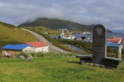 Monument to Unangan People, Unalaska Island, Aleutian Islands, Alaska, USA, North America