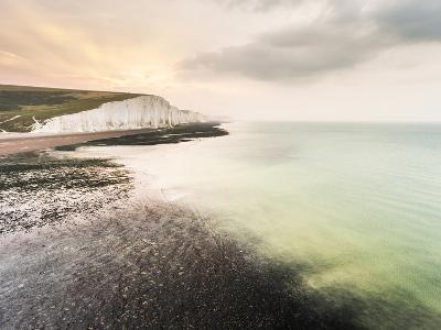 The Seven Sisters chalk cliffs, South Downs National Park, East Sussex, England, United Kingdom