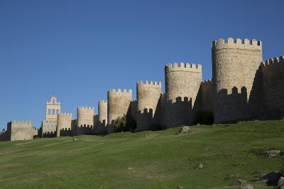 City Wall, originally built in the 12th century, Avila, UNESCO World Heritage Site, Spain