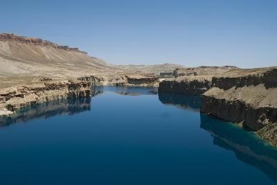 The spectacular deep blue lakes of Band-e Amir, country's first Nat'l Park, Afghanistan