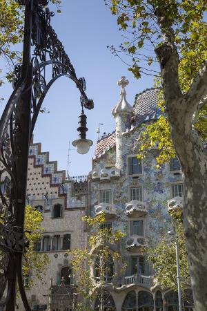 Antoni Gaudi's Casa Batllo building, UNESCO World Heritage Site, Barcelona, Catalonia, Spain