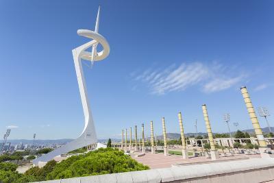 Torre Calatrava (Torre Telefonica), Barcelona, Catalonia, Spain, Europe