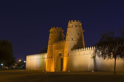 Al Jahili Fort at night, Al Ain, UNESCO World Heritage Site, Abu Dhabi, United Arab Emirates