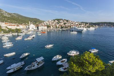 View of Harbour, Hvar Island, Dalmatia, Croatia, Europe