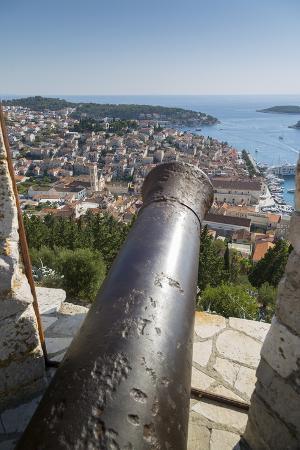 View over Hvar from Spanish Fortress, Hvar Island, Dalmatia, Croatia, Europe