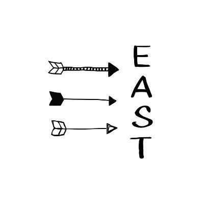 East with Arrows
