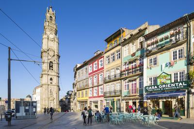 Portugal, Douro Litoral, Porto. Clerigos Tower in the UNESCO World Heritage listed Old Town of Port
