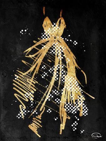Gold Dress White Dots Three