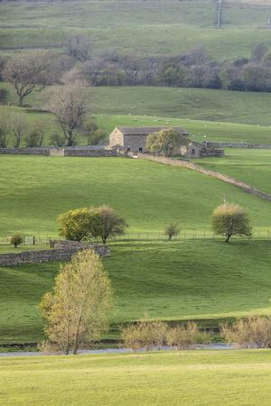Stone barn in the Yorkshire Dales National Park, Yorkshire, England, United Kingdom, Europe