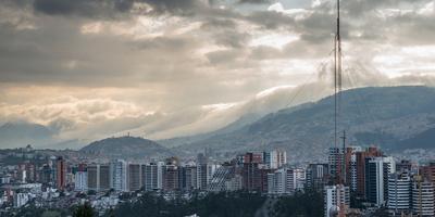 Cityscape, Quito, Ecuador, South America