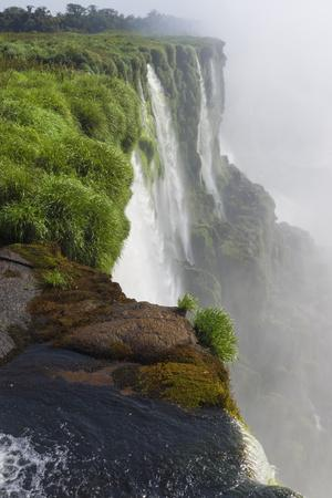 Iguazu Falls from Argentinian side, UNESCO World Heritage Site, on border of Argentina and Brazil,