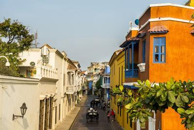 Colonial architecture in the UNESCO World Heritage Site area, Cartagena, Colombia, South America