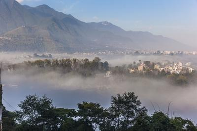 View of Champa Devi, a sacred mountain from Sneha's Care, Bhaisipati, Kathmandu, Nepal, Himalayas,