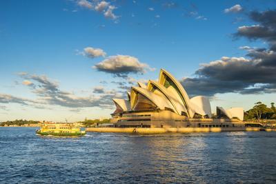 Sydney Opera House at sunset, UNESCO World Heritage Site, Sydney, New South Wales, Australia, Pacif