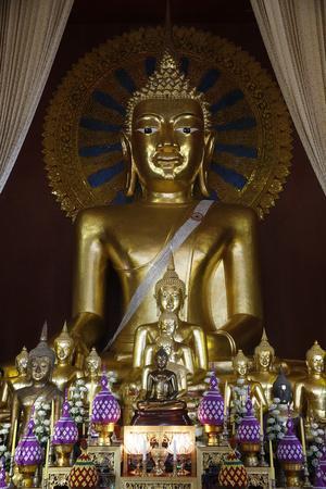 Buddha statues in Wat Chedi Luang, Chiang Mai, Thailand, Southeast Asia, Asia