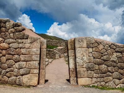 Puka Pukara Ruins, Cusco Region, Peru, South America