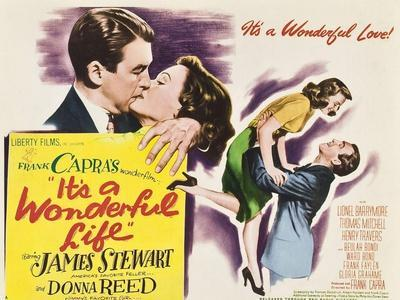 It's a Wonderful Life, James Stewart, Donna Reed, Donna Reed, James Stewart on Poster Art, 1946