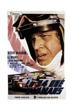 Le Mans (AKA Le 24 Ore Di Le Mans), Steve Mcqueen on Italian Poster Art, 1971