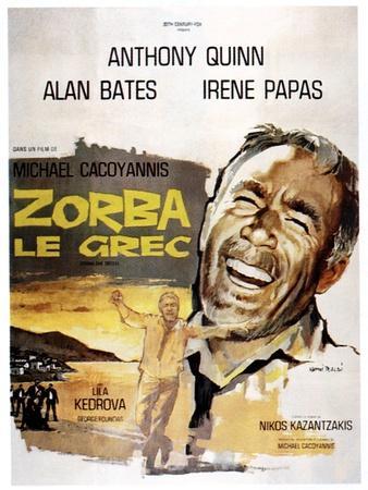 Zorba the Greek, (AKA Zorba Le Grec), Anthony Quinn on French Poster Art, 1964