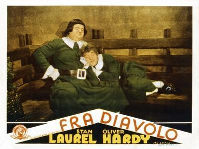 The Devil's Brother, (AKA Fra Diavolo), US Lobbycard, L-R: Oliver Hardy, Stan Laurel, 1933