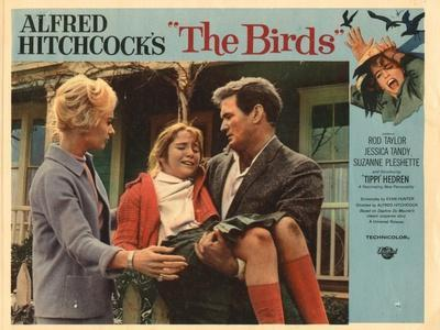 The Birds, Lobbycard, L-R: Tippi Hedren, Rod Taylor, 1963