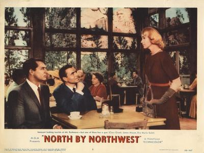 North by Northwest, Lobbycard, From Left, Cary Grant, James Mason, Eva Marie Saint, 1959