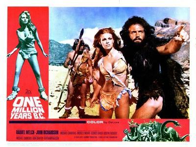 One Million Years BC, L-R, Front, Raquel Welch, John Richardson, 1966