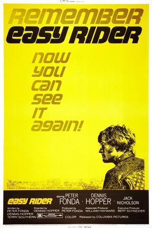 Easy Rider, Peter Fonda on 1972 Re-Release Poster, 1969