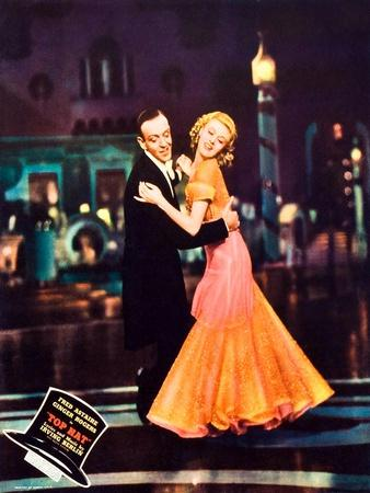 Top Hat, L-R: Fred Astaire, Ginger Rogers on Jumbo Lobbycard, 1935